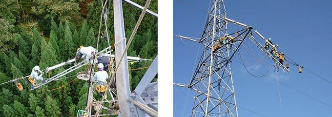 架空送電線建設工事 株式会社ETSホールディングス