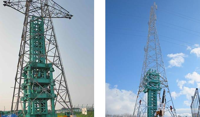 鉄塔嵩上げ、環境調和鉄塔化工事 株式会社ETSホールディングス